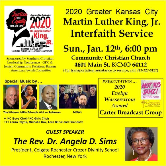KING Interfaith Service - 2020 poster