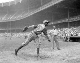 Satchel Paige pitching - 2017