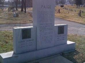 Satchel Paige's grave marker 2019.